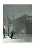 Albany in the Snow Premium Giclee Print by Walter Launt		 Palmer