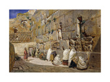 The Wailing Wall, Jerusalem Premium Giclee Print by Carl Friedrich Heinrich Werner