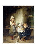 The Young Seamstresses Giclee Print by Heinrich		 Hirt
