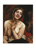Female Nude in the Armchair (The Actress Gertrud Eysoldt) Giclee Print by Lovis		 Corinth