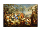 The Feeding of the Five Thousand Reproduction procédé giclée par Johann Georg		 Platzer