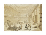 The Library of the Royal Institution, Albemarle Street Giclee Print by Thomas		 Rowlandson