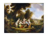 The Card Players Giclee Print by Henry		 Andrews
