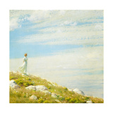 A Breezy Day Giclee Print by Charles Courtney Curran