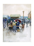 Rainy Day: The Fish Market Giclee Print by Maurice Brazil Prendergast