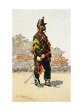 Bugler of the Cavalry Print by Frederic		 Remington