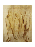 Three Studies of a Standing Male Nude Giclee Print by Glyn Warren		 Philpot
