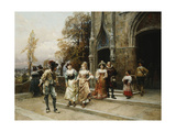 Courtship Giclee Print by Cesare Auguste Detti