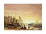 The Fishing Fleet Poster by Albert Bierstadt