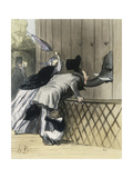 Blue Stockings Prints by Honore		 Daumier