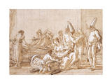 The Nursing of Punchinello Giclee Print by Giovanni Battista		 Tiepolo