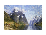 Hardanger Fjord, Norway Posters by Normann Adelsteen