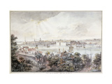A View of Stockholm from Soder with the Royal Palace, Storkyrkan, Riddarholmskykan and Tskakykan Premium Giclee Print by Elias		 Martin