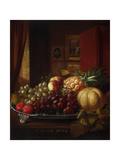 Still Life: Fruit on Silver Platter Giclee Print by Robert Spear Dunning