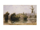 Scene on the Virginia Water Print by Daniell William