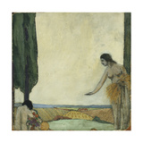 Two Nudes in a Landscape Prints by Marie		 Stocquart