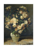 Roses in a Vase Giclee Print by Blanche Jacques-Emile