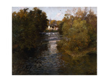 A French River Landscape Print by Frits		 Thaulow