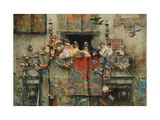 The Carnival in Rome Premium Giclee Print by Benlliure y Gil Jose