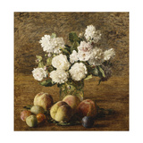 Still Life: Roses and Fruits Print by Henri Fantin-Latour