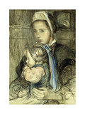 The Older Sister Giclee Print by Elizabeth		 Nourse