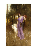 The Shepherdess Art by Carl		 Wunnenberg