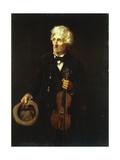 Man With Violin Prints by John George Brown