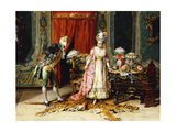 Flowers for her Ladyship Premium Giclee Print by Cesare Auguste Detti