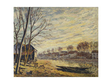 The Boatyard at Matrat Giclee Print by Alfred		 Sisley