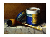 Tobacco and Pipe Giclee Print by William Michael Harnett