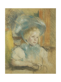Simone in a Plumed Hat Posters by Mary Cassatt