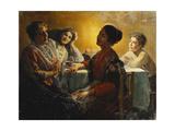 The Evening Conversation Giclee Print by V.P. Casorati