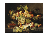 Bountiful Harvest Premium Giclee Print by Severin Roesen