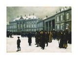 Changing of the Guard at Amalienborg Palace Giclee Print by Paul		 Fischer