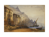 Amalfi from the Shore - A Summer's Morning Prints by Callow William