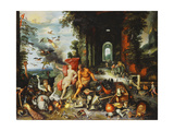 An Allegory of Air and Fire Giclee Print by F.		 Francken