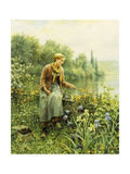 Fishing on a Spring Day Giclee Print by Daniel Ridgway		 Knight