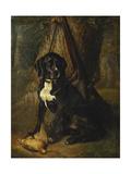 A Gun Dog with a Woodcock Giclee-trykk av William Hammer