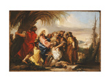 Christ Healing the Blind Man Giclee Print by Giovanni Domenico		 Tiepolo