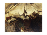 Inside a Tent in the Canadian Rockies Prints by John Singer Sargent
