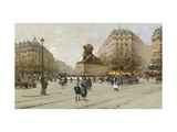 The Lion of Belfort Prints by Galien-Laloue Eugene