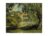 Village on the Banks of the River Impression giclée par Henri Lebasque