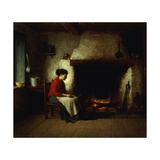 By the Hearth Giclee Print by Platt Powell		 Ryder