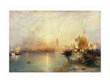 Sunset, Venice; Santa Maria and the Ducal Palace Posters by Moran Thomas