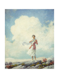 On the Summit Giclee Print by Charles Courtney Curran
