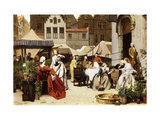 The Flower Market Posters by Auguste		 Serrure