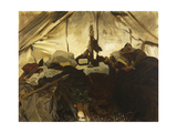 Inside a Tent in the Canadian Rockies Giclee Print by John Singer Sargent
