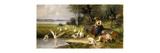 Woman and Geese; Madchen und Gansen Premium Giclee Print by Adolf Ernst Meissner