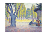 The Fountain des Lices in St. Tropez Giclée-tryk af Paul Signac