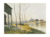 A February Morning in Moret-sur-Loing Posters by Alfred		 Sisley